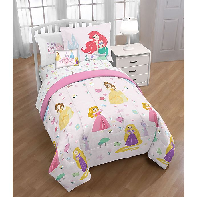 Alternate image 1 for Disney® Princesses 3-Piece Twin/Full Comforter Set