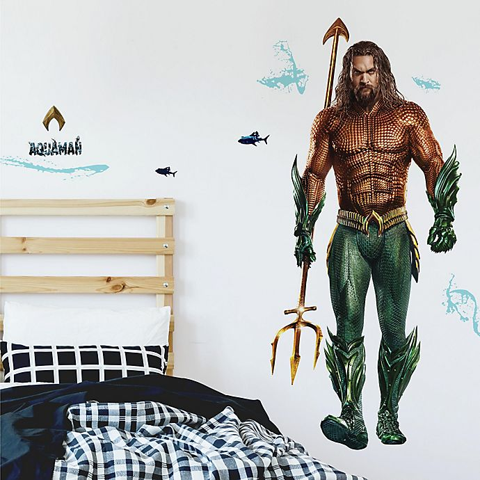 Alternate image 1 for RoomMates® 16-Piece Giant Aquaman Peel & Stick Wall Decal Set