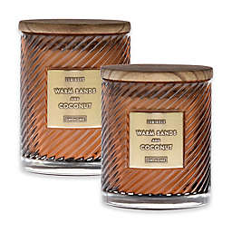 Warm Sands & Coconut Scented Spiral Candle