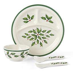 Lenox® Holiday™ Children 4-Piece Dinnerware Set in Green/Red