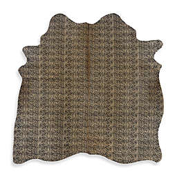 Linon Home Natural Cowhide 5-Foot x 8-Foot Indoor Rug in Cheetah