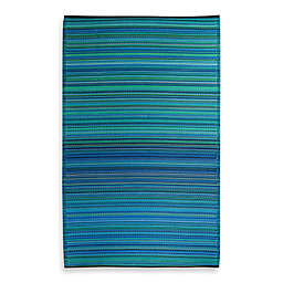 Fab Habitat Cancun 3' x 5' Indoor/Outdoor Area Rug in Turquoise/Moss Green