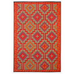 Fab Habitat Lhasa Indoor/Outdoor Rug in Orange with Violet