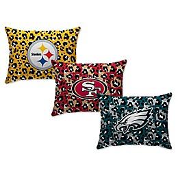 NFL Animal Print Micro-Plush Standard Bed Pillow