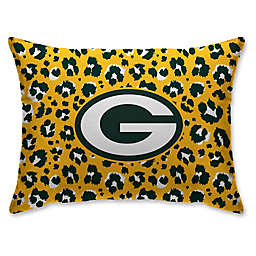 NFL Green Bay Packers Animal Print Micro-Plush Standard Bed Pillow