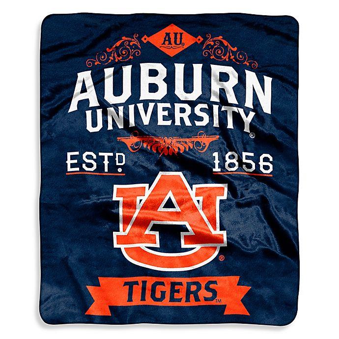 Alternate image 1 for Auburn University Raschel Throw Blanket