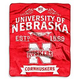 University of Nebraska Raschel Throw Blanket