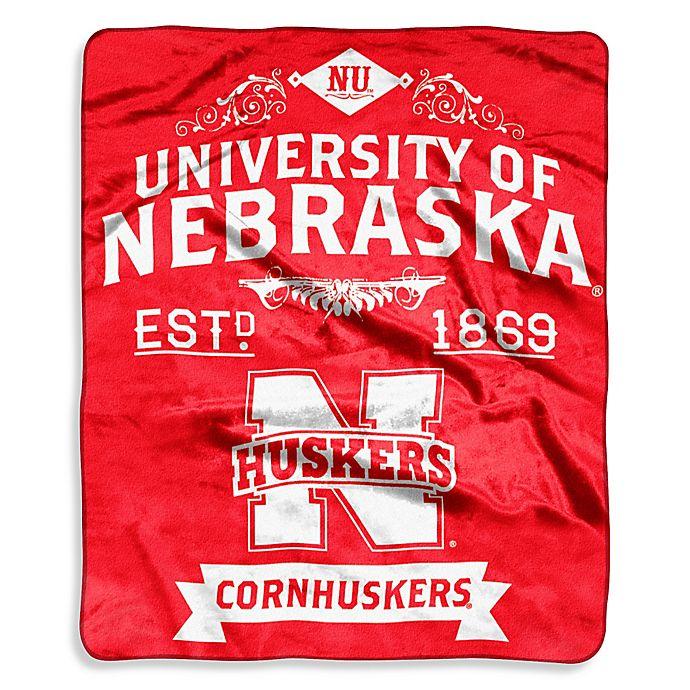 Alternate image 1 for University of Nebraska Raschel Throw Blanket