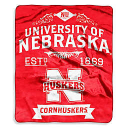 University of Nebraska Raschel Throw Blanket