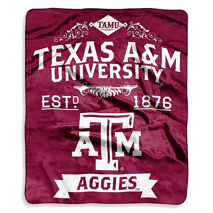 Alternate image 1 for Texas A&M University Raschel Throw Blanket