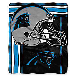 NFL Carolina Panthers Royal Plush Raschel Throw
