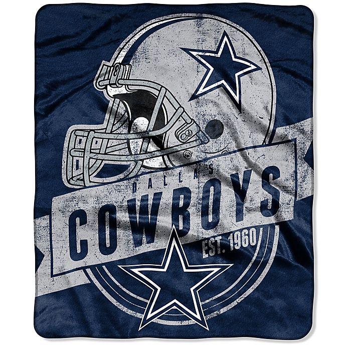 d2f63c2ae7b9c NFL Dallas Cowboys Royal Plush Raschel Throw