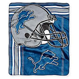NFL Detroit Lions Royal Plush Raschel Throw