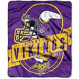 NFL Minnesota Vikings Royal Plush Raschel Throw