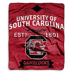 University of South Carolina Raschel Throw Blanket