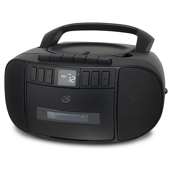 GPX CD, Cassette and AM/FM Boombox in Matte Black | Bed ...