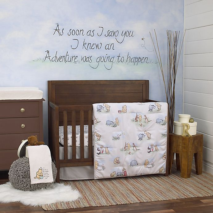 Alternate image 1 for Disney® Classic Pooh 6-Piece Crib Bedding Set in Ivory