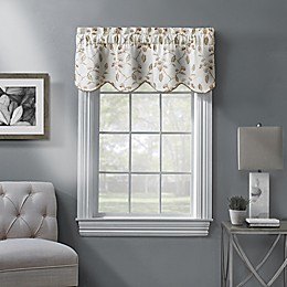 Ellington Embroidered Scalloped Window Valance