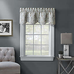 Ellington Embroidered Scalloped Window Valance in Spa