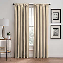 Maxwell 95-Inch Rod Pocket Window Curtain Panel in Ivory