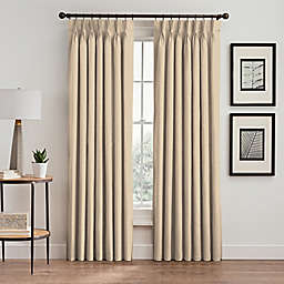 Maxwell Pinch-Pleat Rod Pocket Lined Window Curtain Panel