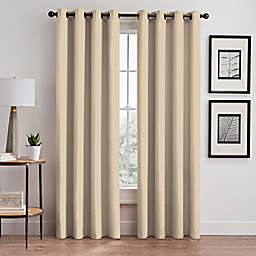 Maxwell 95-Inch Grommet Window Curtain Panel in Ivory