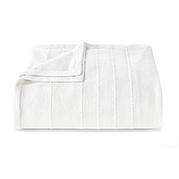 Vera Wang™ Open Stripe White Full/Queen Blanket
