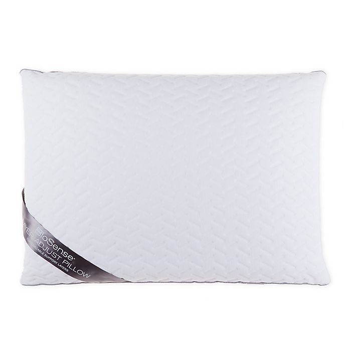 Alternate image 1 for Brookstone® BioSense™ Layer Adjust Memory Foam Standard Bed Pillow