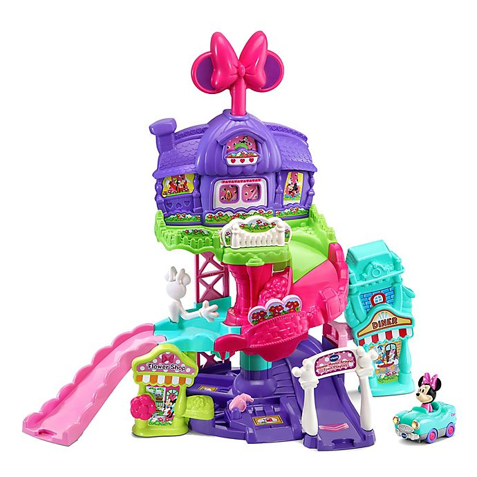 Alternate image 1 for VTech® GoGoSmart Wheels Disney® Minnie Mouse Around The Town Play Set