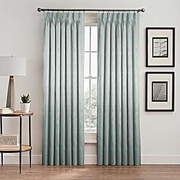 Silken Pinch-Pleat Rod Pocket Lined Room-Darkening Window Curtain Panel