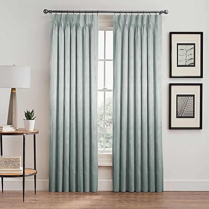 Alternate image 1 for Silken Pinch-Pleat Rod Pocket Lined Room-Darkening Window Curtain Panel