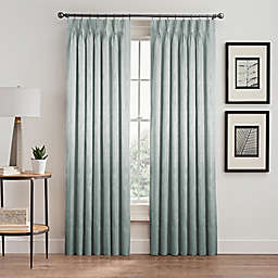 Silken Pinch-Pleat Rod Pocket Lined Room-Darkening Window Curtain Panel