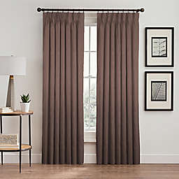 Silken 84-Inch Pinch-Pleat Rod Pocket Lined Room-Darkening Window Curtain Panel in Mocha