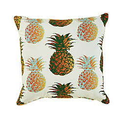 Pineapple Print Outdoor Square Throw Pillow