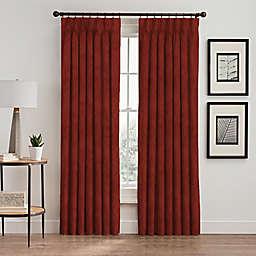 Scroll Pinch Pleat Room Darkening Window Curtain Panel