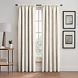 Scroll Rod Pocket/Back Tab Window Curtain Panel