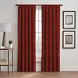 Scroll 63-Inch Rod Pocket/Back Tab Window Curtain Panel in Cayenne