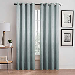 Silken 84-Inch Grommet Room Darkening Window Curtain Panel in Sea Mist