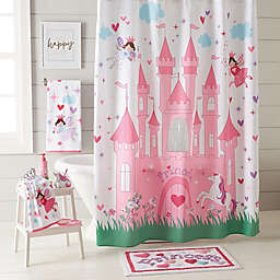 Magical Princess Shower Curtain Collection in Pink