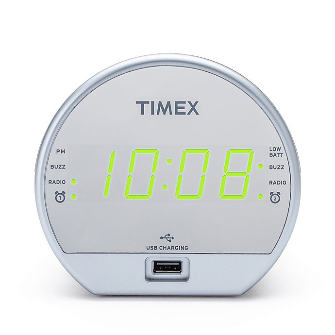 Alternate image 1 for Timex® Dual Alarm Clock Radio with USB Charging Port