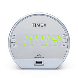 Timex® Dual Alarm Clock Radio with USB Charging Port