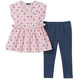 Tommy Hilfiger® 2-Piece Cherry Top and Jegging Set in Pink