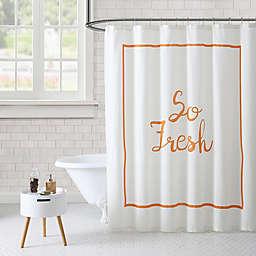 Freshee™ So Fresh Shower Curtain in Orange