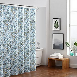 Freshee Adriana Shower Curtain in Blue/Green