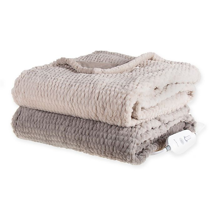Brookstone N A P Heated Faux Fur Throw Bed Bath And Beyond Canada
