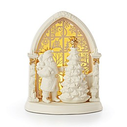 Lenox® Illuminations Lit Santa Scene in Ivory