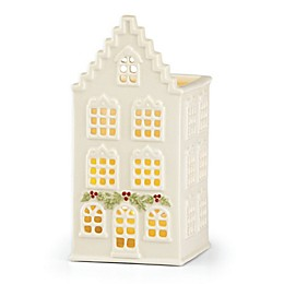Lenox® Illuminations 5.6-Inch Canal House with Door Swag Votive Holder in Ivory