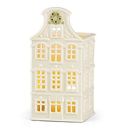 Lenox® Illuminations Canal House with Wreath Votive Holder in Ivory