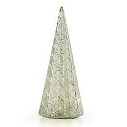 Lenox® Wintery Woods Lit Diamonds Mercury Glass Tree in Green
