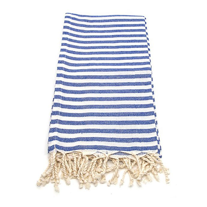 Alternate image 1 for Linum Home Fun in the Sun Fouta Beach Towels in Blue